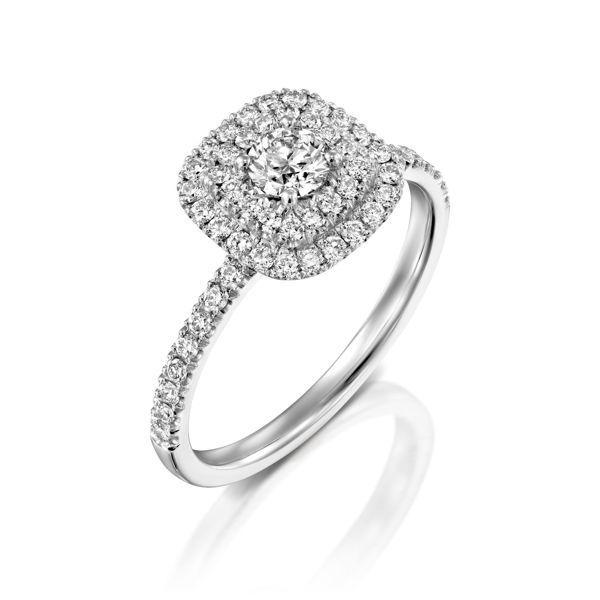תמונה של טבעת אירוסין יוקרתית עשירה במיוחד
