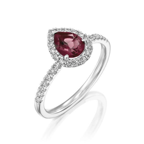תמונה של טבעת יהלומים - טורמלין